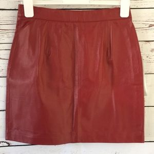 Excelled collection leather skirt